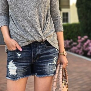 American Eagle Tomgirl High Waist Button Up Shorts